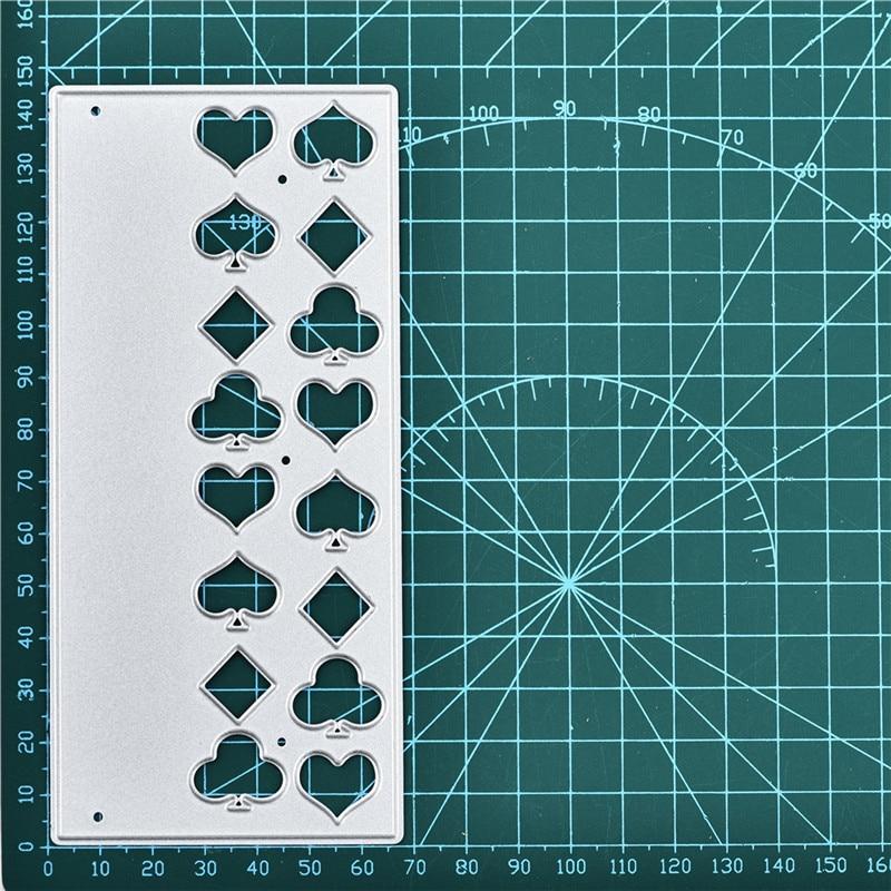 Eastshape Poker Metal Cutting Dies Card Making Scrapbooking Crafts Handmade Spade Heart Diamond Club