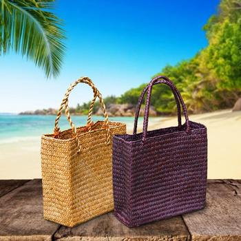 Handmade Woven Tote Straw Bag Large Shopping Hand Bags for Summer Beach Travel 6