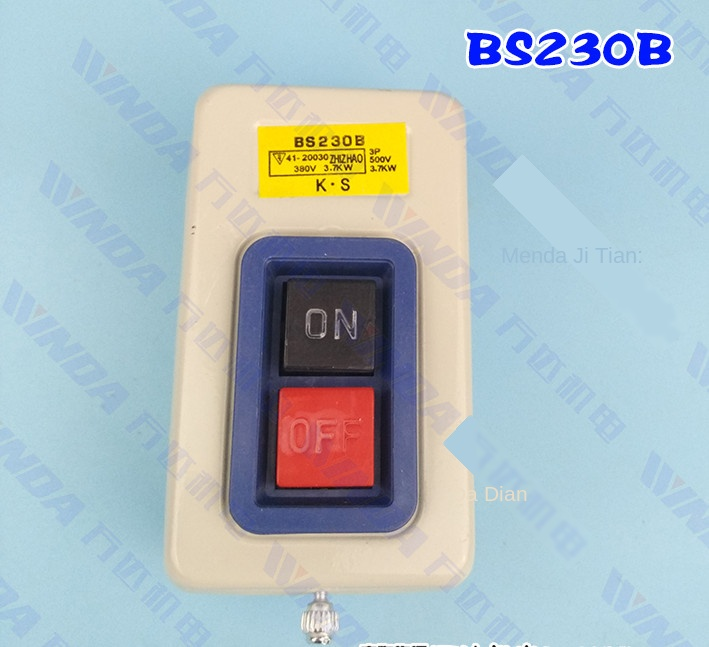Bs216b Power Button Switch Bs230b Button Switch Three-phase Button Switch 380V Power Switch