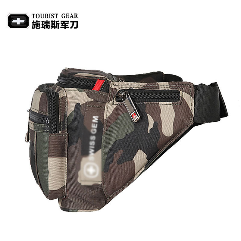 Business Men Phone Bag Canvas Bag Sports Waist Pack Kit Wallet Men's Camouflage Wallet