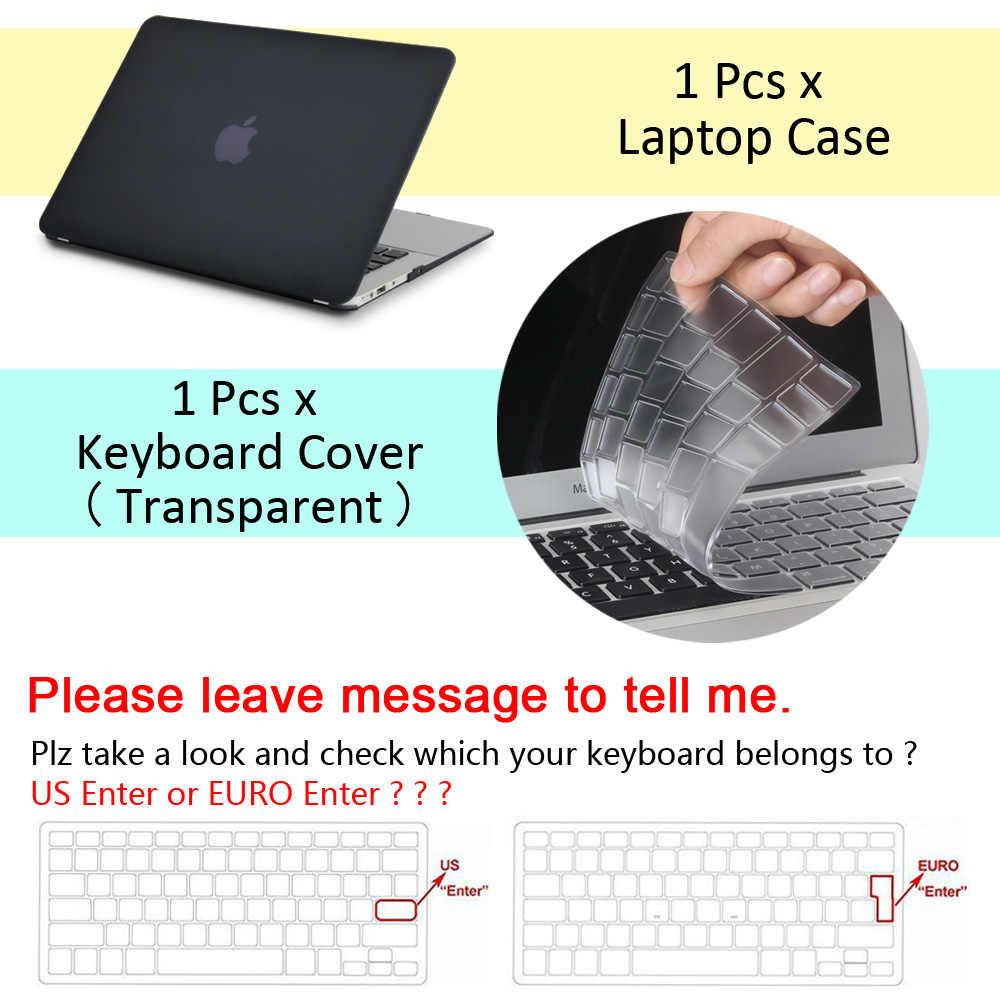 New Laptop untuk Apple Macbook Air Pro Retina 11 12 13 15 untuk MAC BOOK Pro 13.3 15.4 Inci dengan Touch Bar + Keyboard Cover