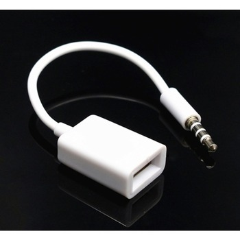 AUX to USB 3.5mm Male Aux Audio Jack Plug to USB 2.0 Female Converter Cable Cord Converter Cable Only Car AUX Port image