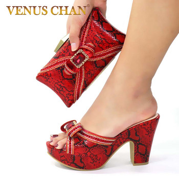 Sexy Style Nigerian Shoe and Bag Set 2020 Fashion African Party Shoes and Bag Shoes with Matching Bags Party Shoes in Fuchsia 12