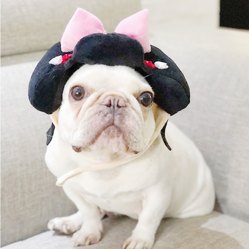 Popular Cute Pet Dogs Cats Funny Cap Novelty Geisha Samurai Hat Costume Party Headwear Accessories for Dressing Up Your Pets