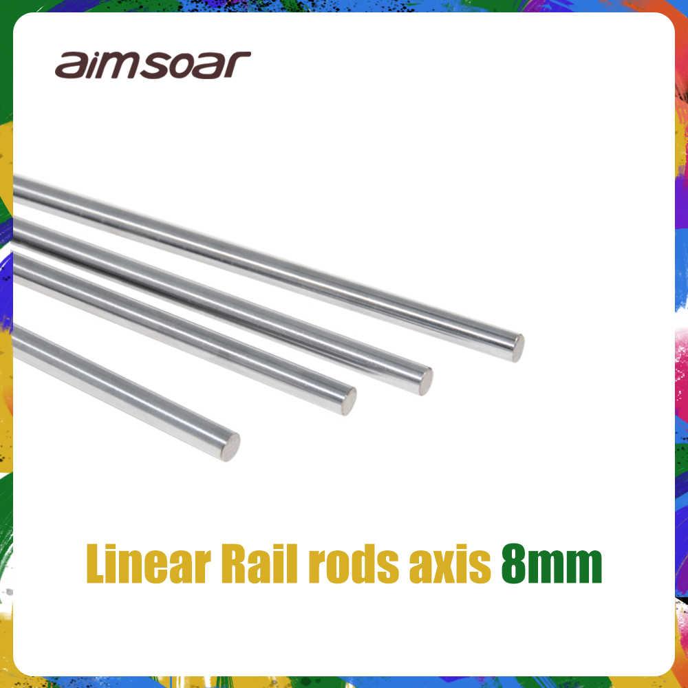 แกน 300 320 350 370 400 450 500 มม.แท่ง 8mm Linear SHAFT Rail 3D เครื่องพิมพ์ชิ้นส่วนชุบโครเมี่ยมท่องเที่ยว SLIDE Part