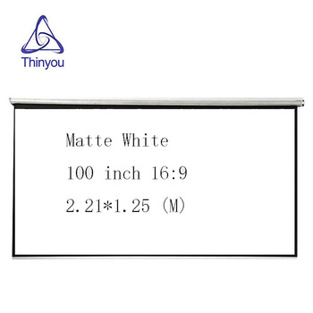 Thinyou 100inch 16:9 Projector HD Screen roll Front Projection Screen Fabric For Office Cinema home Education excelvan 150 inch 16 9 collapsible pvc hd portable home and outdoor use projector screen with hanging hole for front projection