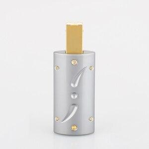 Image 5 - Виборг UB201, высококлассный позолоченный USB 2.0 24K штекер USB B, DIY HI Fi USB кабель, позолоченный бронзовый USB кабель