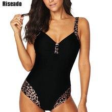 Riseado maillot de bain pour femmes, ensemble une pièce à imprimé léopard, grande taille, XXXL, vêtements de plage, nouvelle collection