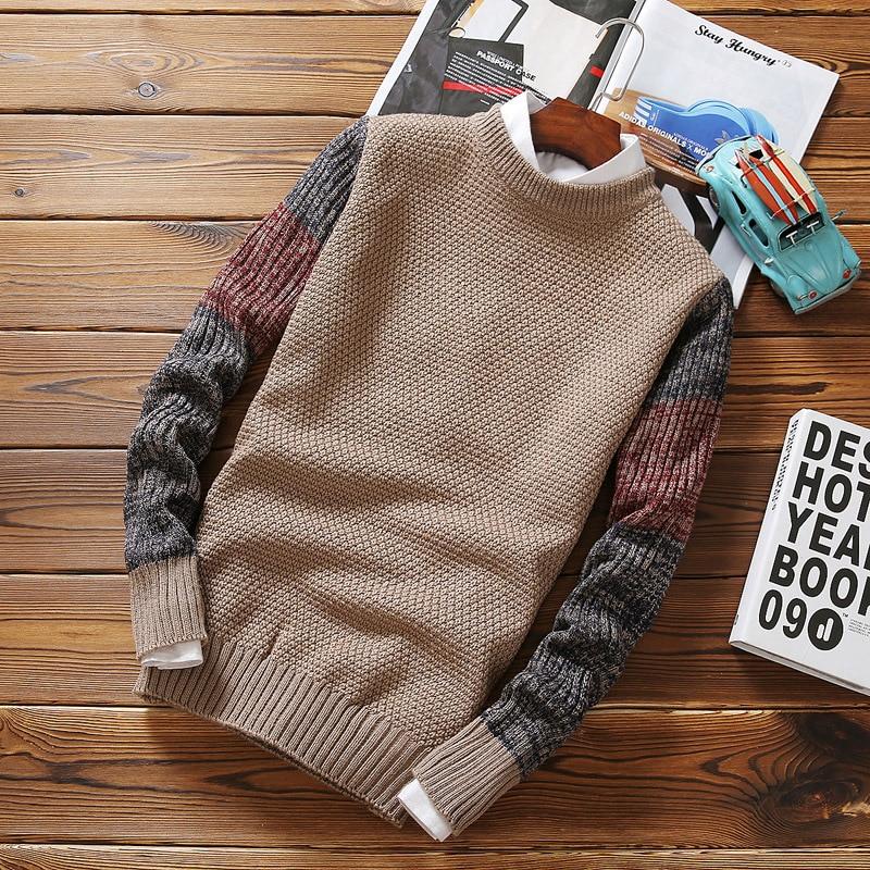 Men Winter Sweater Loose Coat Jacket Leisure Knitting Unlined Upper Tops Garment Rendering Unlined Upper Sweaters