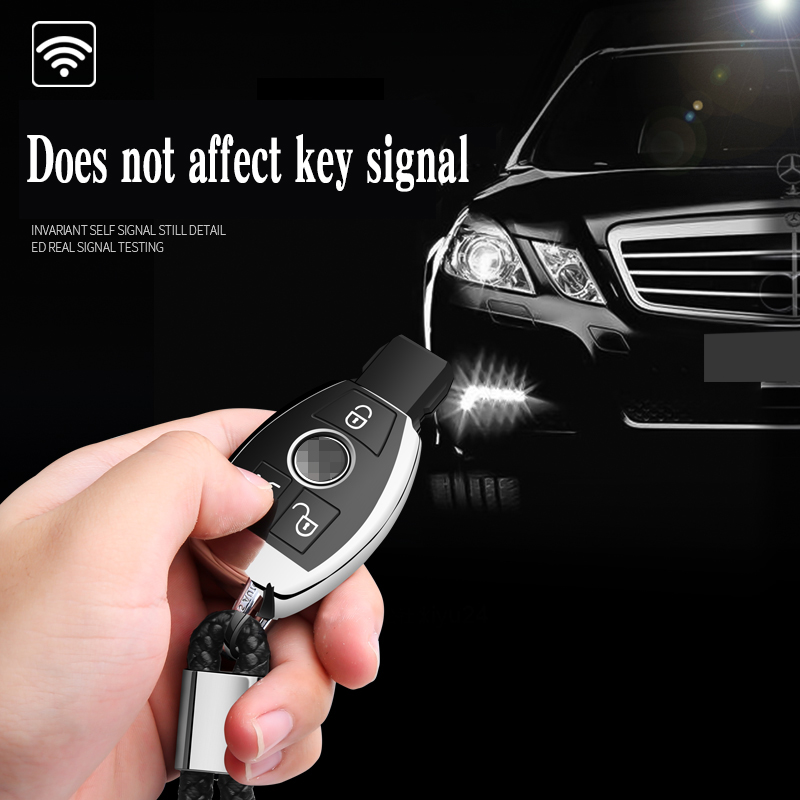 Image 2 - Hight quality PC+TPU key case cover Key case protective shell holder for Mercedes benz A B R G Class GLK GLA E200 E200L W176Key Case for Car   -