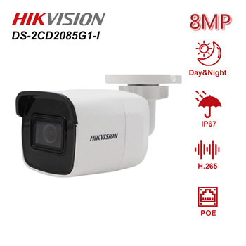Hikvision Original DS-2CD2085G1-I Powered by Darkfighter 8MP 20fps Bullet Network CCTV IP Camera H.265+ POE WDR SD Card Slot new english version free shipping ds 2cd2055fwd i replace ds 2cd2055 i 5mp network bullet camera support on board storage