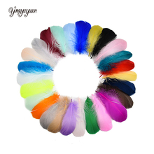 100pcs 6-12cm DIY Dyed Goose Feather Rainbow Feather Balloon Fill Wedding Dress DIY Decorative Accessories Feathers 3-5inch the rainbow feather