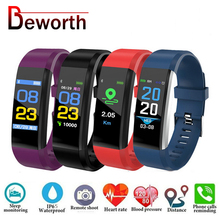 115 Plus Bluetooth Armband Herz Rate Monitor Blutdruck Smart Band Armband Fitness Tracker Smartband für Android IOS