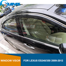 Wind Visor deflectors Rain Guards For LEXUS ES240/350 2009 2010 2011 2012 Sun Shade Awnings Shelters Guards accessories  SUNZ