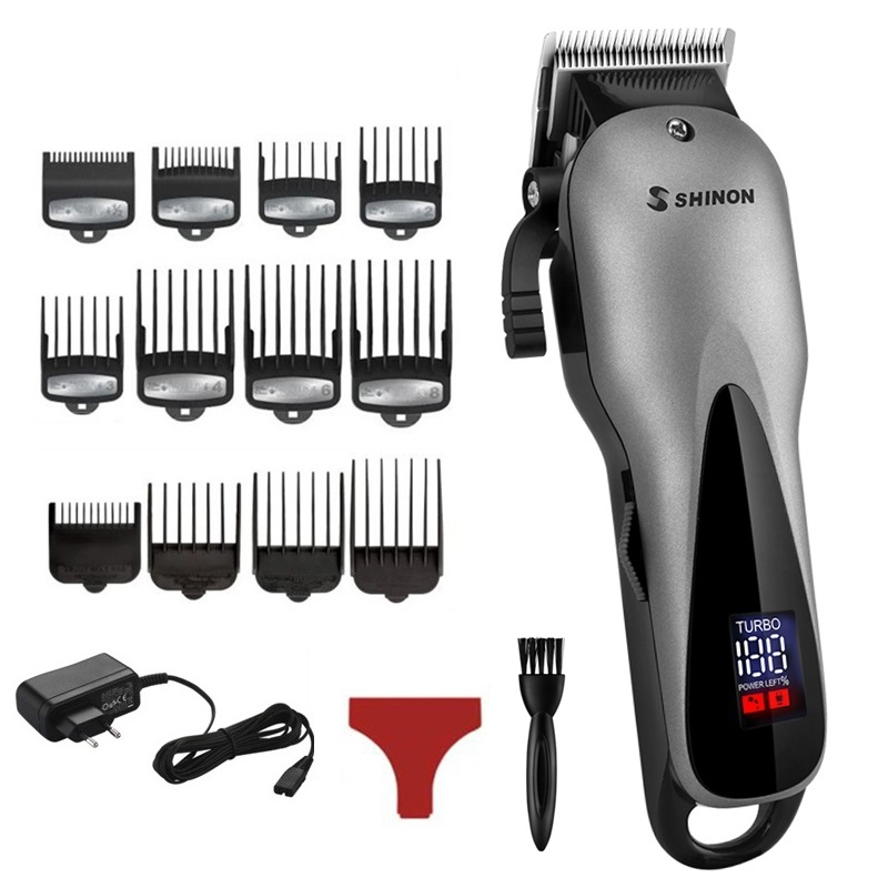 Professional barber hair clipper electric hair trimmer man rechargeable hair cutting machine haircut compatible for wahl pro-in Hair Trimmers from Home Appliances