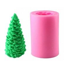 Силиконовая форма 3D Рождественская елка Санта Клаус свеча форма для DIY свеча мыло Рождественский подарок изготовление торта украшение выпечки инструмент