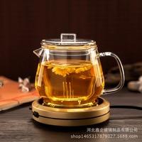 Starke Wärme Beständig Hohe Temperatur Glas Teekanne Gekochte Teekanne Filter Tee Set Trinken Ware Duftenden Tee Topf Glas Set|Teebretter|   -