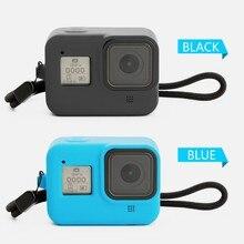 Ультратонкий Мягкий чехол для камеры пыленепроницаемый силиконовый защитный чехол с ремешком для Gopro Hero 8 аксессуары для экшн-камеры