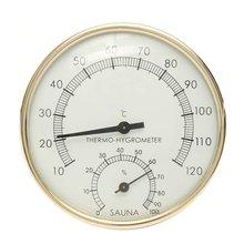 Sauna Thermometer Metal Dial Hygrometer Humidity Temperature Measurement Meter Indoor Room Accessory цена