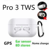 Pro 3 TWS zmień nazwę pozycjonowanie słuchawki Bluetooth wykrywanie ucha KO i200 i9000 i100000 TWS bezprzewodowe słuchawki