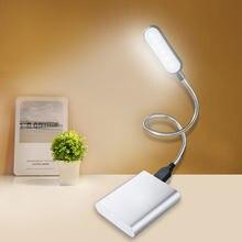 Flexible Helle Nette Sterlingsilber-stille Licht Mini LED USB Buch Licht Lesen Lampe Angetrieben Durch Laptop Notebook Computer Fr Studenten R