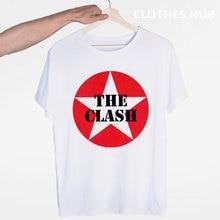 런던 전화 음악 락 밴드 충돌 티셔츠 오-넥 반팔 여름 캐주얼 패션 남여 남성과 여성 Tshirt