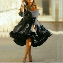 2020 черные женские вечерние платья с открытыми плечами и длинным