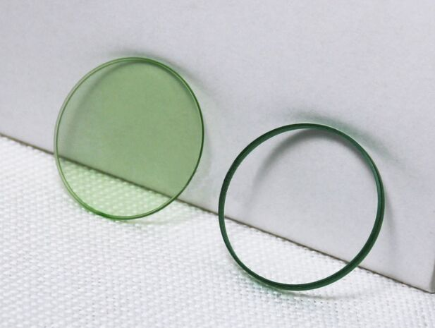 Free Shipping 1pc High Quality Mineral Glass For Rlx Green Milgauss 116400 ,116400GV With Logo 6 O'clock