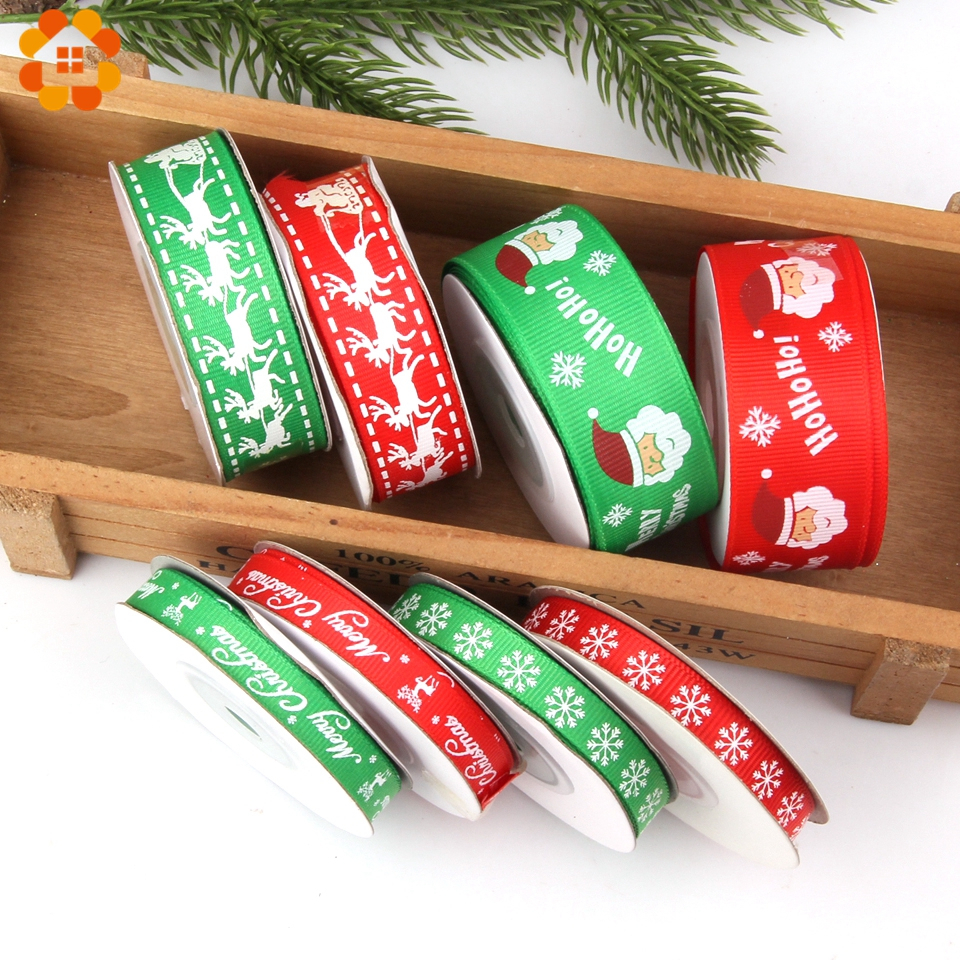 DIYHouse® 25Yard//Set Christmas Colorful Satin Ribbon Packing Tape DIY Crafts
