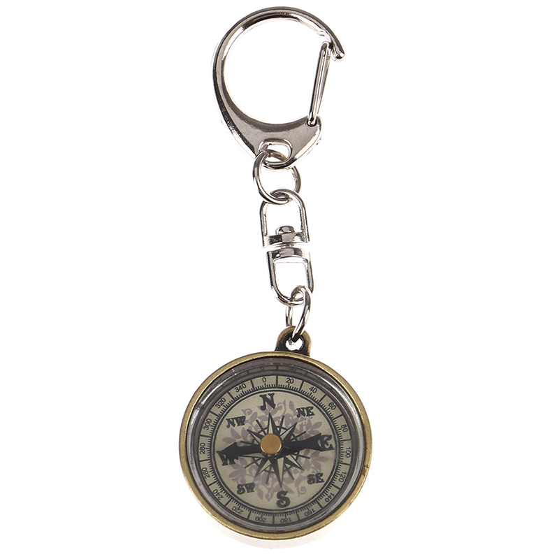 1pc Survival Compass Mini Compass Camping Compass Keychain Outdoor Camping Tool