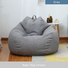 Bean Bag Covers Large Small Lazy Sofa Cover Chairs Without Filler Linen Cloth Tatami Living Room Furniture Lounger Seat Couch bean bag sofa cover chairs pouf for kids adults living room lazy bean bag living room lazy bean bag sofa relax furniture
