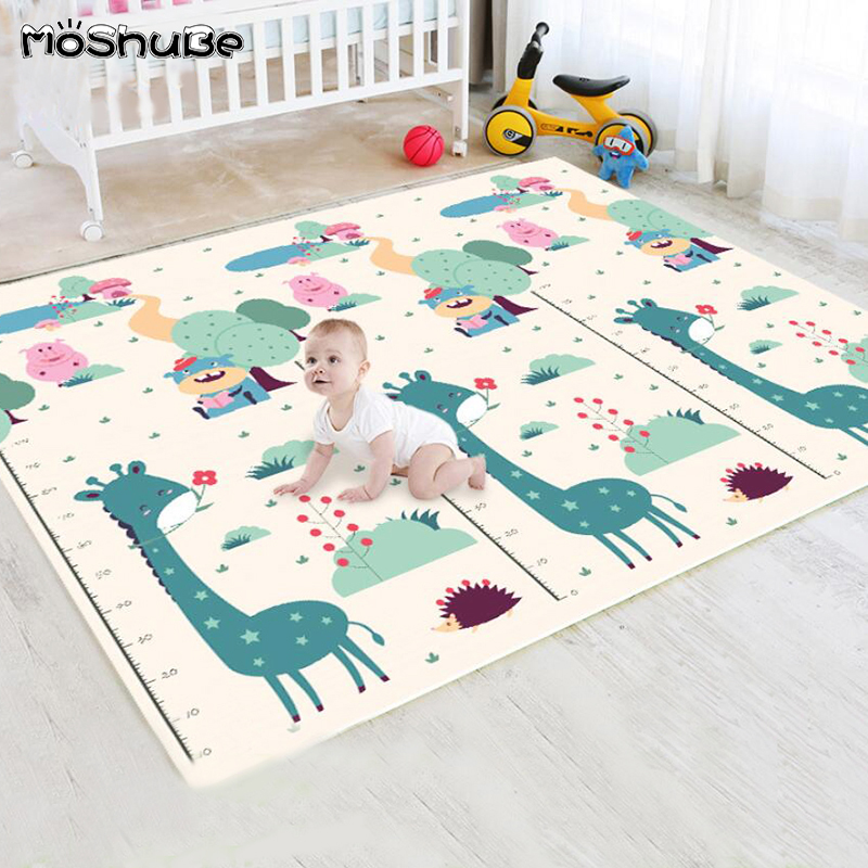 Baby Thick Play Mat Soft Floor Children's Rug Giraffee Climbing Double Sided Anti-slip Foam Pad Developing Mat Gym Game Toys