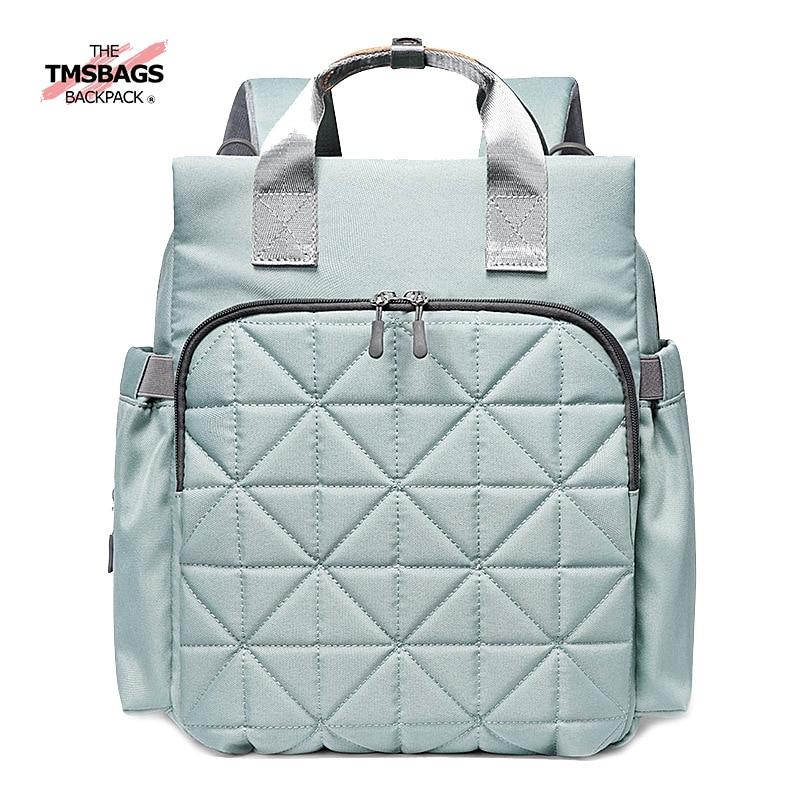 Baby Backpack New Style Large-Volume Diaper Bag Hand Printed Baby Bag Waterproof MOTHER'S Bag Multi-functional Shoulder