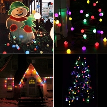 5M 10M LED Solar Ball Garland Lights String Waterproof Outdoor Lamp Holiday Wedding Party Baby Bed Fairy Lights Decoration