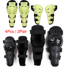 4pcs / 2Pair Motorcycle Knee Protector Elbow pads Protective Gear Knee Guards Kit Kneepad Free Riding Thickening Protection Moto 1 pair protective cycling guards waterproof gear safety adjustable equipment riding thicken warm motorcycle knee pads pu racing