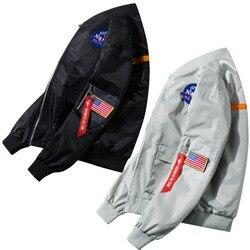 2021 primavera nova masculina bombardeiro zíper jaqueta masculina casual streetwear hip hop fino ajuste piloto casaco roupas masculinas plus size