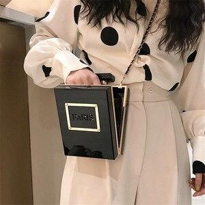 Image 4 - 2 Colors Acrylic Women Casual Black Bottle Handbags Wallet Paris Party Toiletry Wedding Clutch Evening Bag transparent bag women