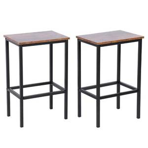 TOPINCN 2Pcs Retro Industrial Style Bar Stools Bar Chairs For Living Room Party Room Bar Furniture Kitchen Supplies