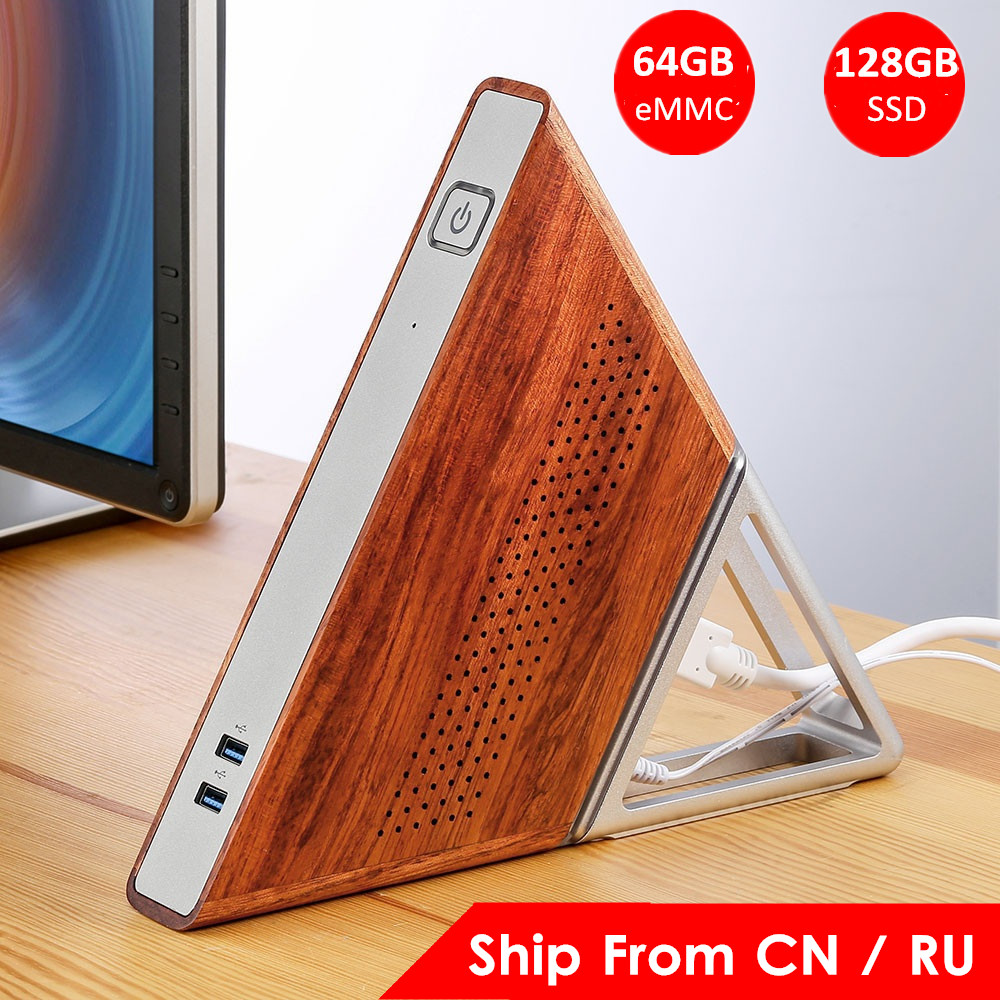 Acute Angle AA-B4 DIY Mini PC Intel Apollo Lake N3450 Intel HD Graphics 500 Windows 10 8GB RAM 64GB eMMC 128GB SSD Wifi TV BOX image