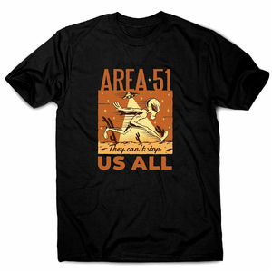 Area 51 Alien - Men'S Funny Premium T-Shirt Loose Size Top Tee Shirt(China)
