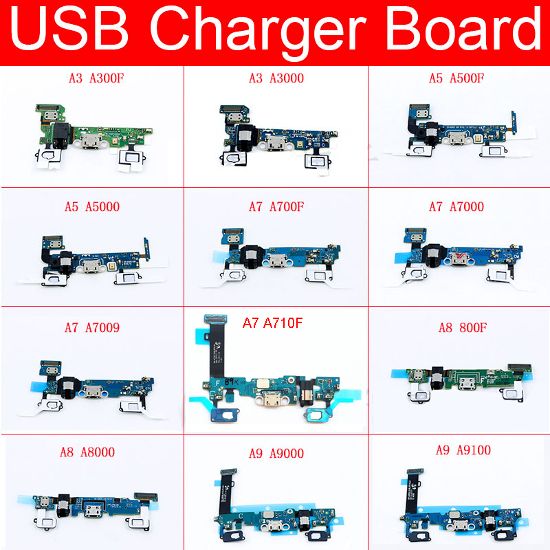 USB Power Charging Board For Samsung Galaxy A3 A5 A7 A8 A9 Pro 2015 2016 A700F A710F A7000 A7009 A800F A8000 A9000 A9100 Parts