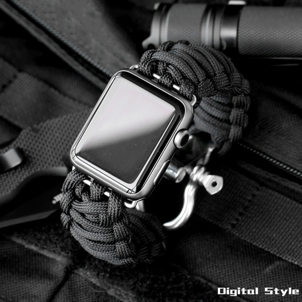 Sport Watch Band For Apple Watch Strap 5 4 3 2 44mm 40mm Iwatch 42mm 38mm Survival Rope Metal Bolt Clasp Bracelet Accessories