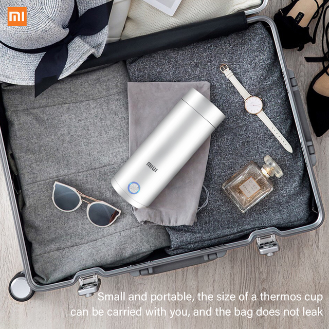 400ml Portable Electric KettlesThermal Cup Make tea Coffee Travel Boil water Keep warm Smart Water Kettle Kitchen Appliances 6