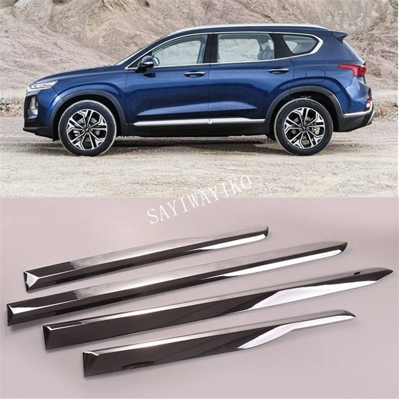 Chrome Body door Side Molding Trim sill Cover Guard For Nissan Qashqai 2015-2019
