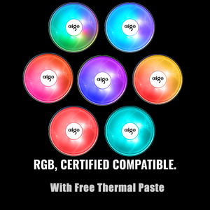 Image 2 - Aigo CPU Cooler 120mm PWM Fan 12V 4Pin RGB Air CPU Cooling Computer LGA 1150 1151 1155 1366 I3 I5 I7 AM3 AM4 Quiet PC CPU Cooler