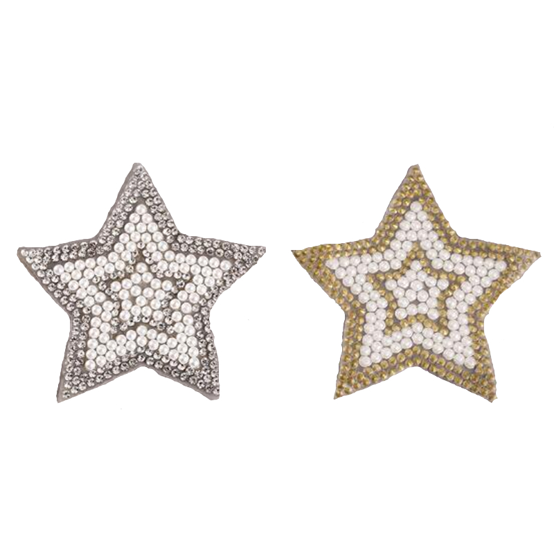 8 designs Crystal Pearl Rhinestone Patches DIY Motif Iron on Patches Applique For Hot Fix Strass Clothing Shoe Bag Rhinestones    - AliExpress