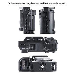 Image 4 - UURig C A6400 מתכת מצלמה Rig כלוב עבור Sony Alpha A6400 יד אחיזת מצלמה Rig DSLR מצלמה אבזרים
