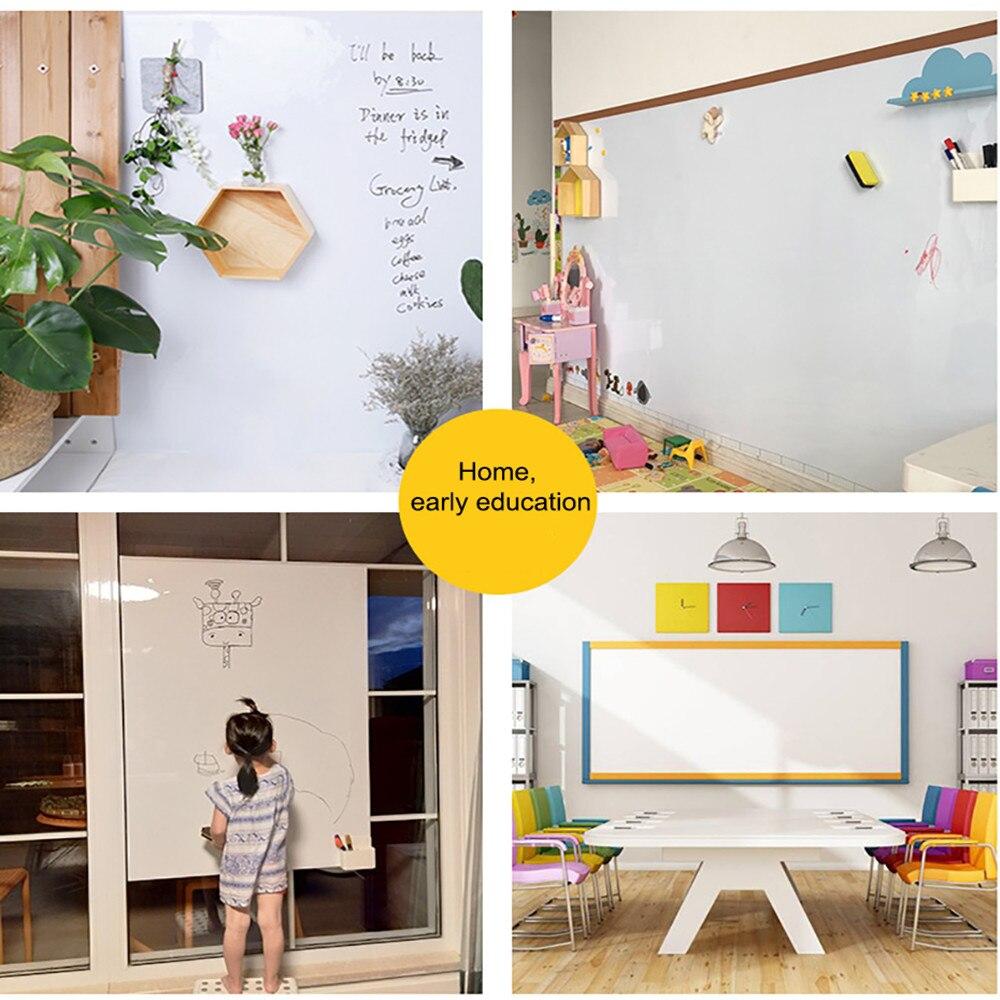 Сухая салфетка детской комнаты Наклейка Декор доска стены Стикеры держать магниты самоклеящаяся 100x60 см офисная чашка белая доска записи - 6