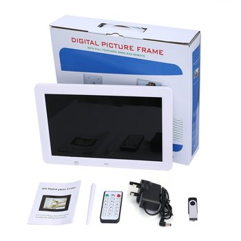 12 inch HD Digital Photo Frame Motion Sensor & 8GB Memory LED Picture Frame with Wireless Remote Control Music MP3 Video MP4 10 inch digital picture frame 1024x600 display electronic album photo music video clock calendar e book remote control gift