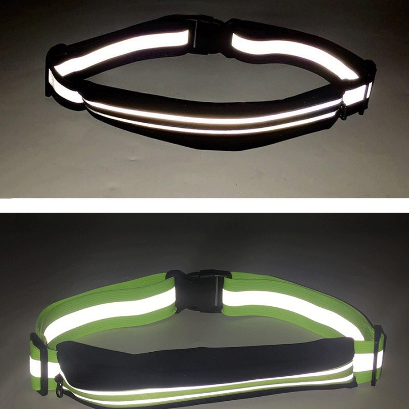 Reflective Running Waist Bags Waterproof Adjustable Belts Fanny Sport Zip Bum Pack For Outdoor Sports Cycling Climbing Hiking